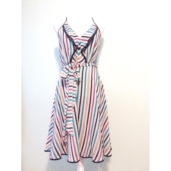 d5b85eb370680 Anthropologie Dresses | Anthro Girls From Savoy Silk Halter Tie ...